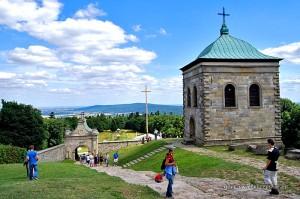 Panorama Gór Świętokrzyskich ze Świętego Krzyża