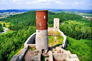 Chęciny - widok z wieży zamkowej