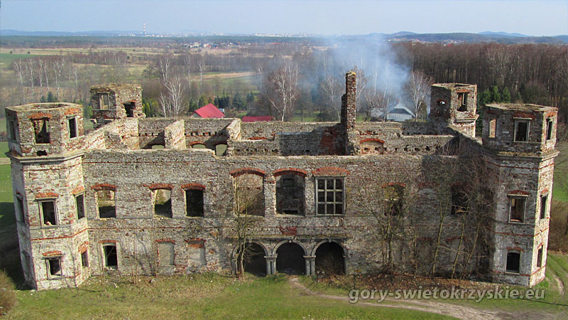 Ruiny pałacu Tarłów w Podzamczu Piekoszowskim, fot. Andrzej Paszkowski