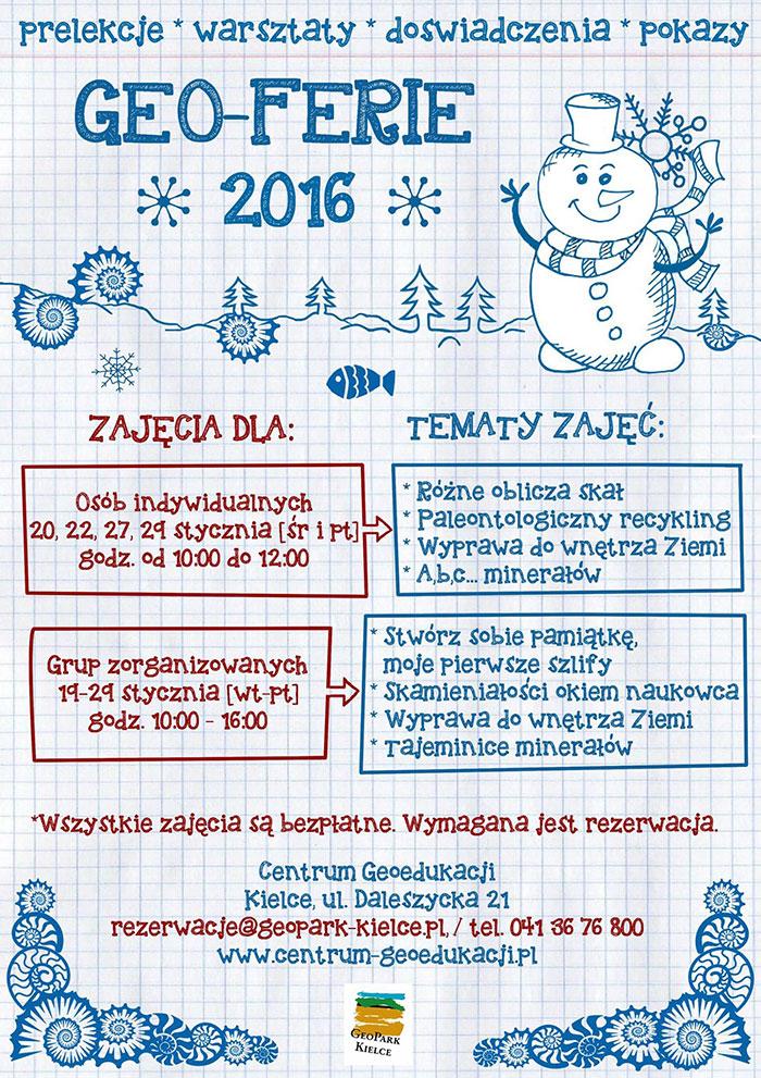 Plakat Geo-Ferie 2016